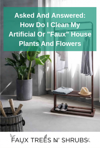 """Asked And Answered: How Do I Clean My Artificial Or """"Faux"""" House Plants And Flowers?"""