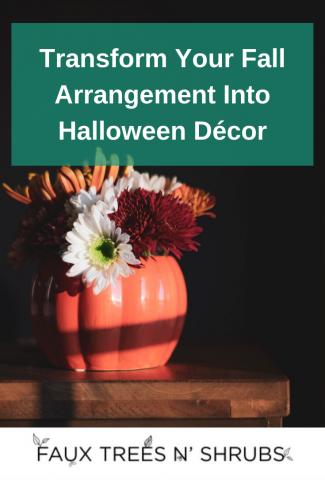 Transform Your Fall Arrangement Into Halloween Décor