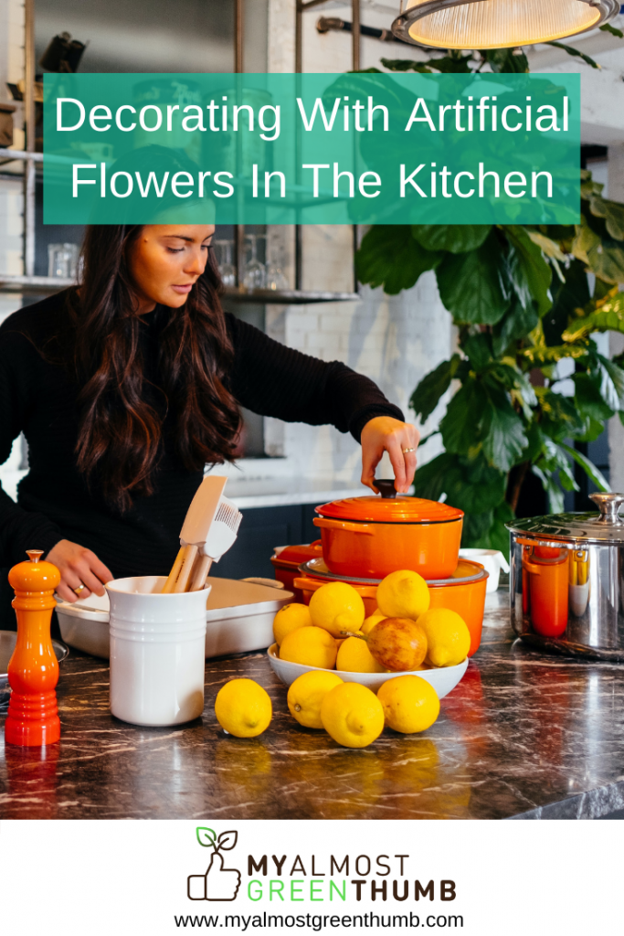 Tips for decorating with artificial flowers and plants in the kitchen