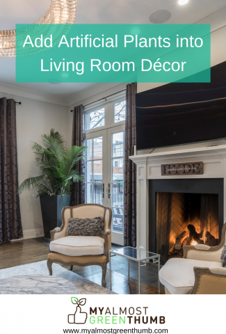 Add Artificial Flowers And Plants into Living Room Décor