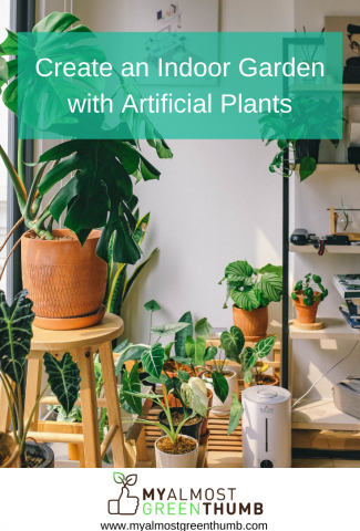 Create an Indoor Garden with Artificial Plants and Flowers