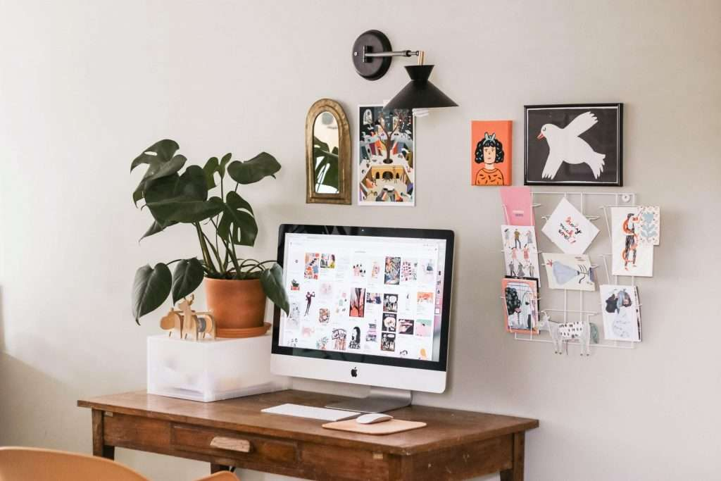 Use artificial plants and flowers to decorate your office space