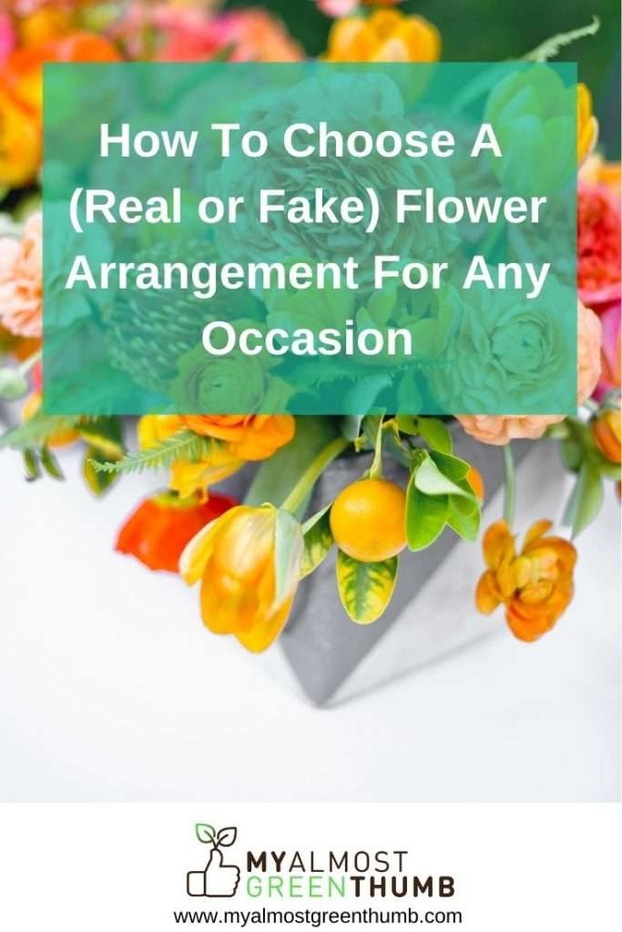 Choosing the right flower or plant arrangement for that special occassion